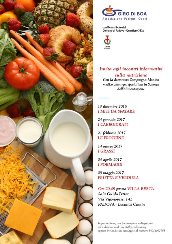 Esec_Locandina-A4 INCONTRI INFORMATIVI SULLA NUTRIZIONE